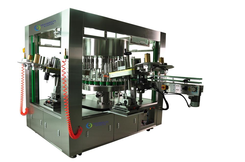 YBY-24243R 全自动旋转式不干胶圆瓶定位贴标机
